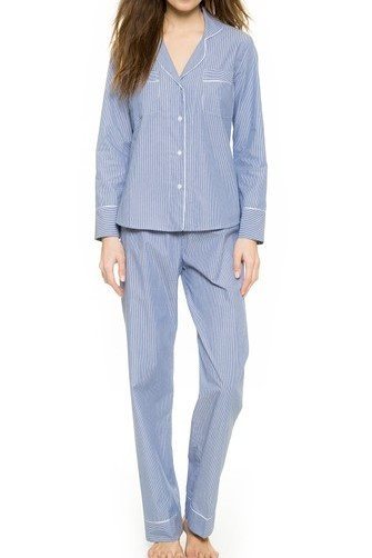 Salua Classic Cotton Pajama in Mediterranean Stripes