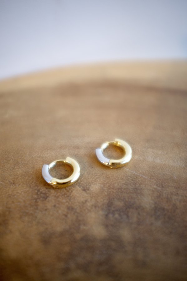 Machete Perfect Huggie hoops - 14k gold plated/sterling silver