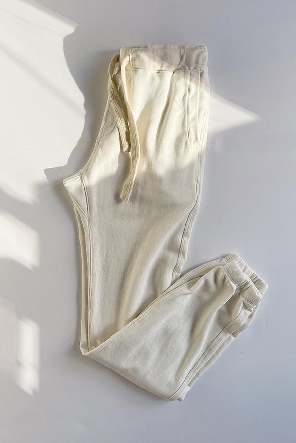 Jungmaven Yelapa Drawstring Sweatpant - Washed white