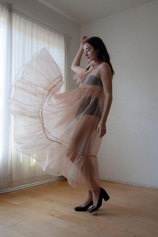 Kamperett Mae Dress - Blush