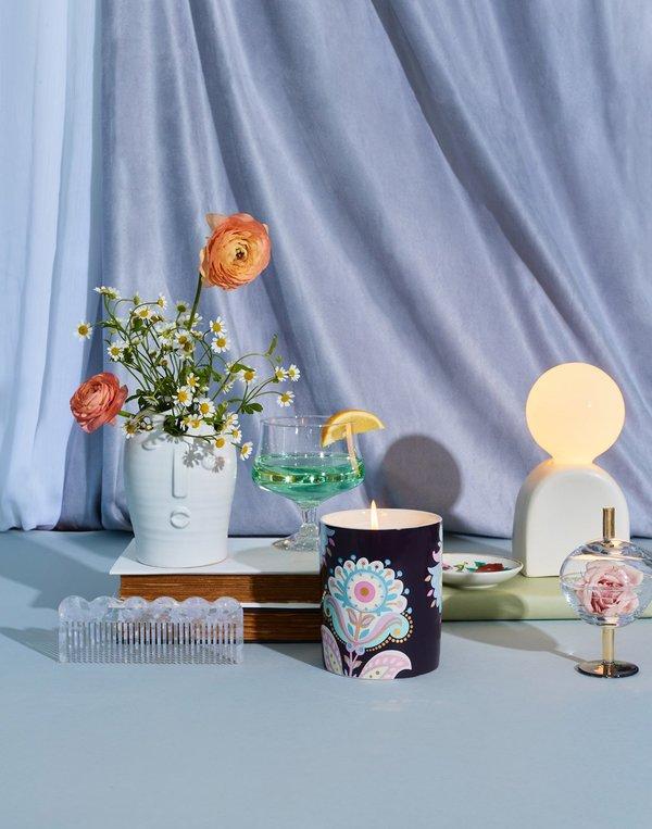 Cynthia Rowley Moonflower Ceramic Jar Candle