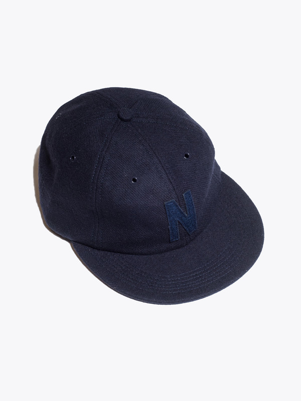 Men s Norse Projects 6 Panel  N  Wool Flannel Flat Cap  1445ad4ba2a