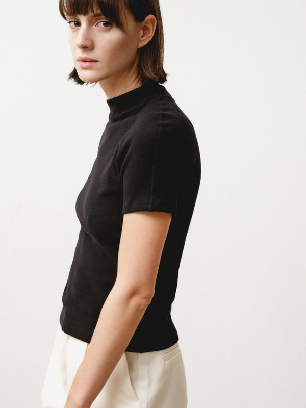 Priory Dive Tee - Stretch Knit Black