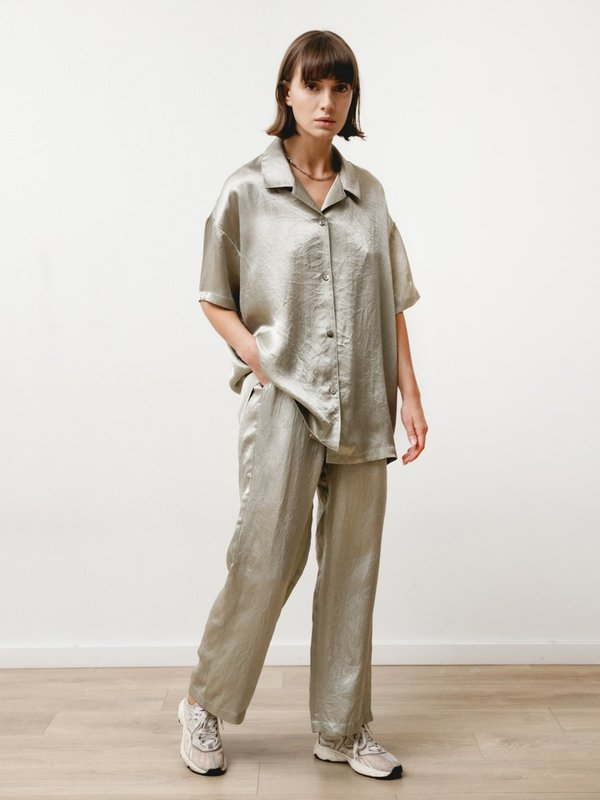 Priory Vista Pant - Crushed Slinky Silver