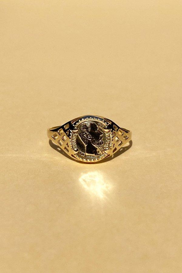 WOLF & GYPSY VINTAGE Aurum Mini Peso Coin Ring - Gold