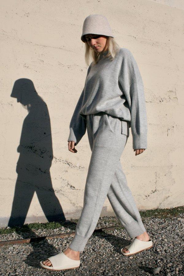 Lauren Manoogian Wide Crewneck - Light Grey