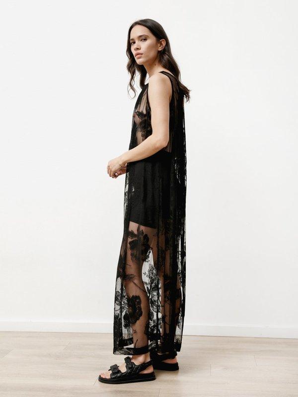 Priory Floral Lace Dress - Lace Black