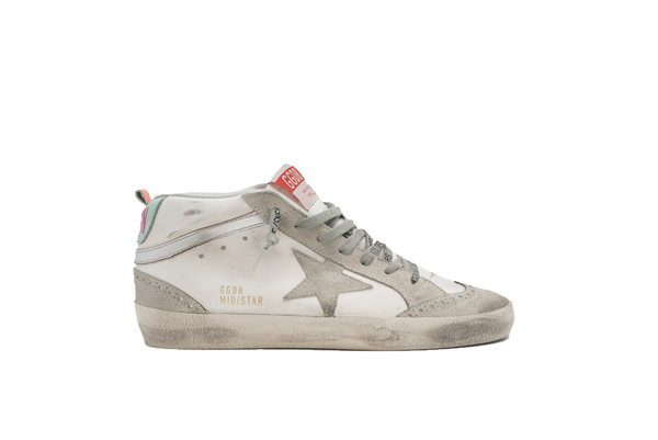 Golden Goose Mid Star Leather/Spur Laminated Wave Sneakers