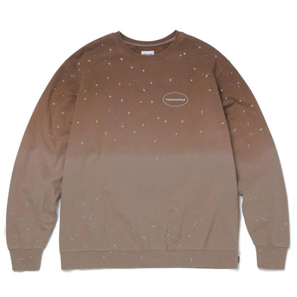 ThisIsNeverThat Dip Dyed Crewneck Sweater - Mocha