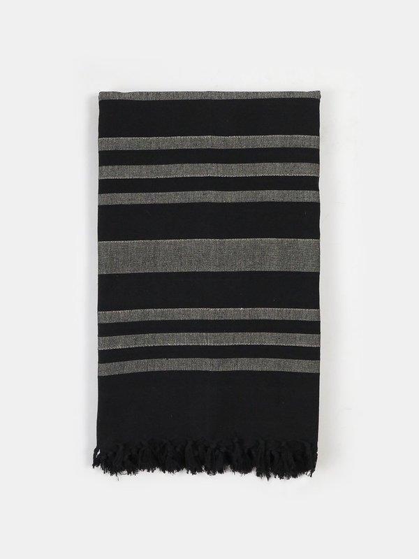 Erica Tanov fringe cotton throw - coal