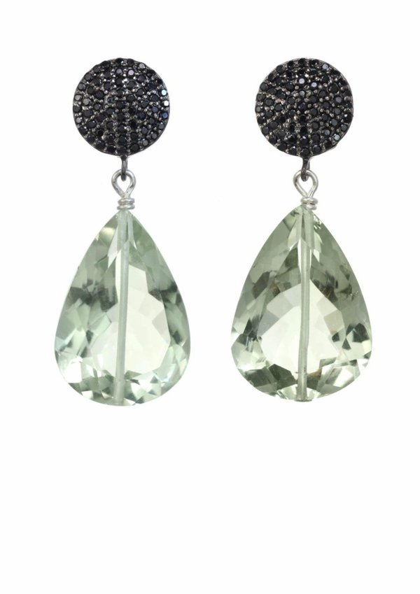 Margo Morrison Cushion Cut Amethyst Earrings - Green