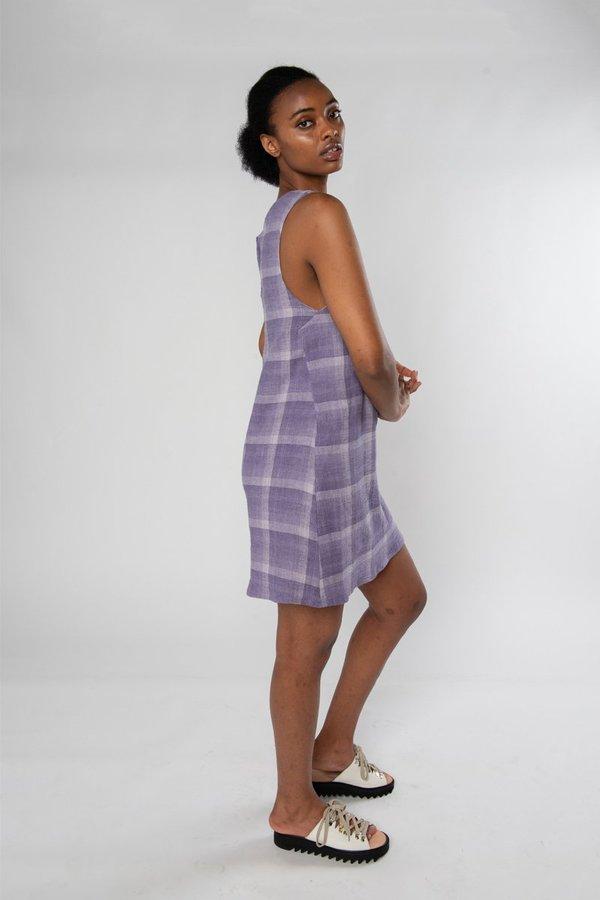 Limb The Label Audrey Dress - Mauve Check