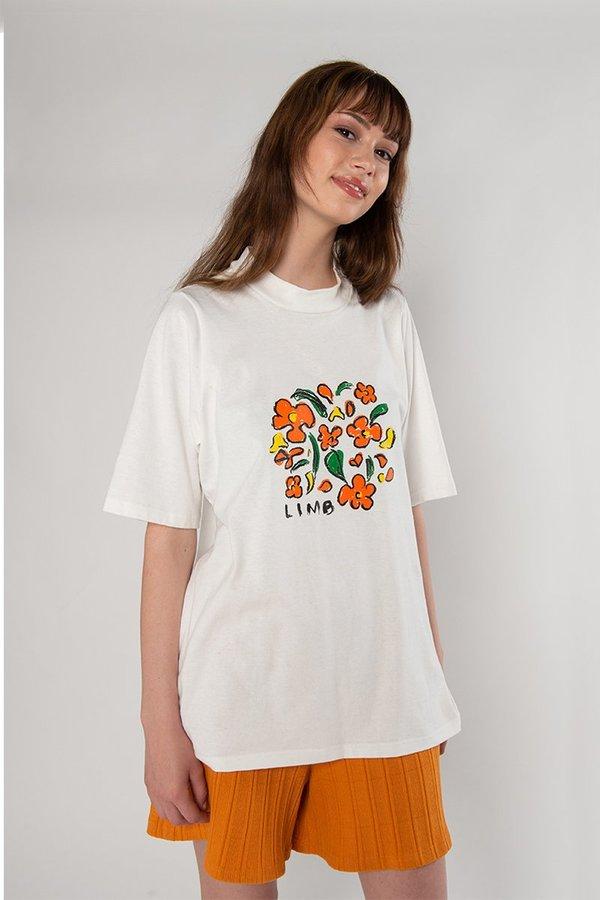 Limb The Label Tee - white print