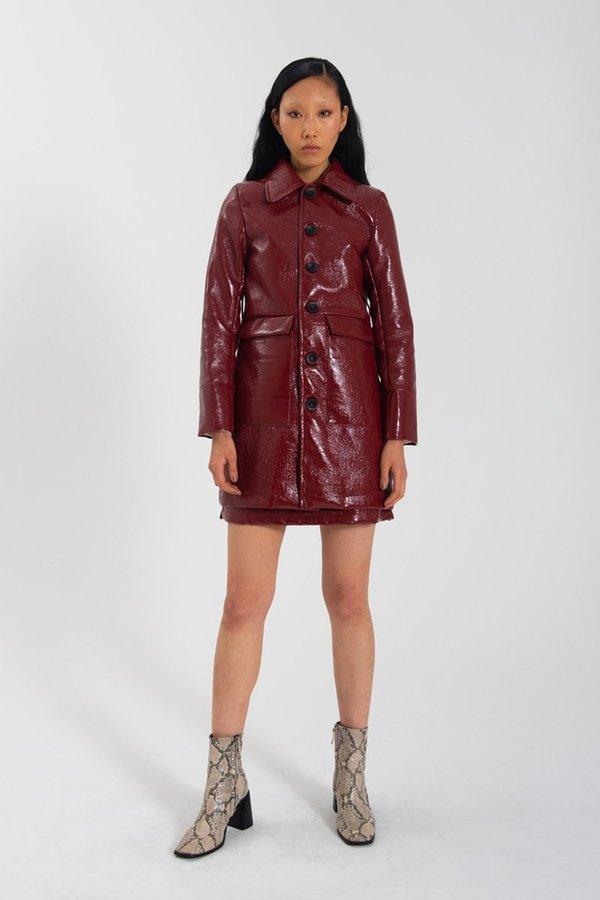 Limb The Label Marcelle Jacket - Crimson PVC