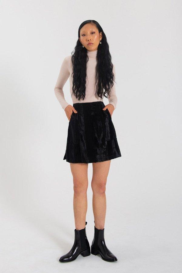 Limb The Label Nina Skirt - Black fur