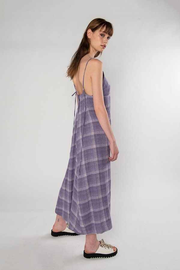 Limb The Label Shaye Dress - Mauve Check