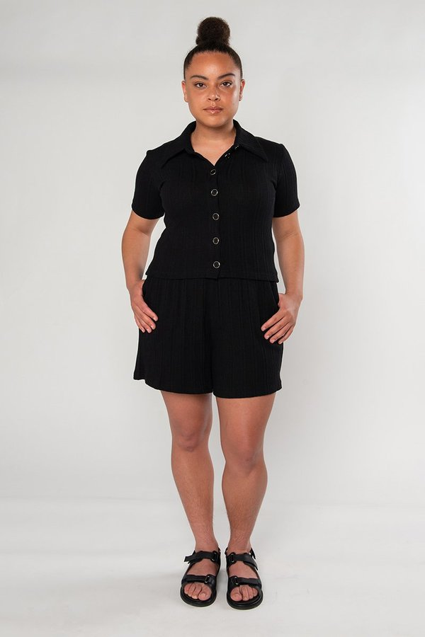 Limb The Label Sylvie Short Sleeve - Black