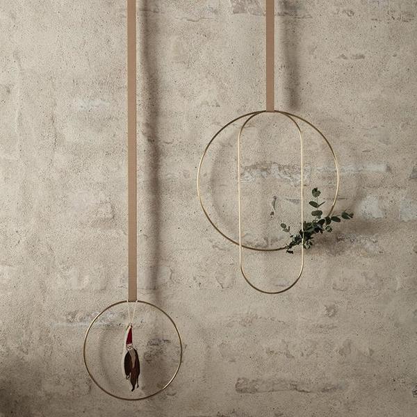 Ferm Living Set Of Three Deco Frames - Gold