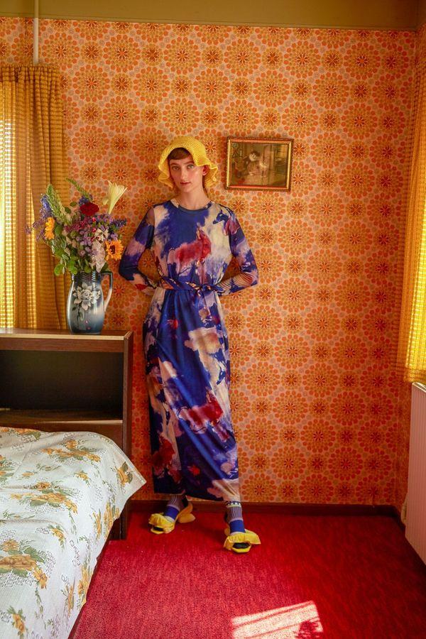 Henrik Vibskov Beat Jersey Dress - Painted Clouds