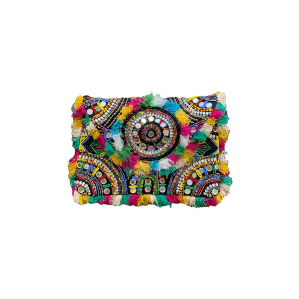 Farm Stand Hand Embellished Clutch - Multicolor