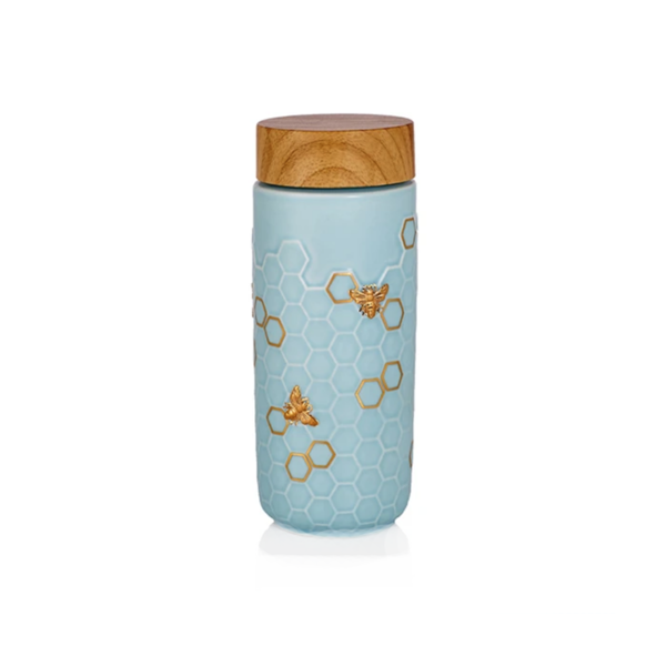 Acera Honey Bee Travel Mug - Baby Blue