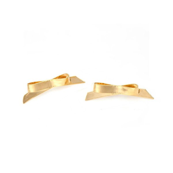 Mirit Weinstock Petit Gold Bows Studs - Gold