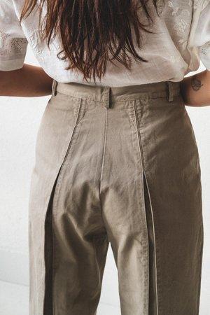 Caron Callahan Elliott Pants - Khaki Twill