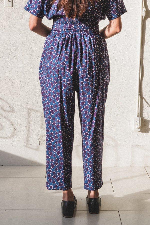 Caron Callahan Nicole Pants - Mulberry Floral Wool