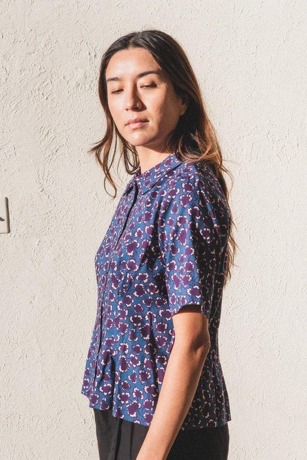 Caron Callahan Westley Top - Mulberry Floral Wool