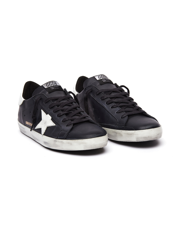 Golden Goose Leather Superstar Sneakers - Black/White