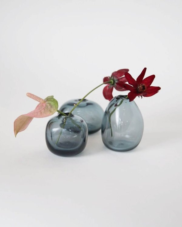 Sunday Morning Trio of Kelly Bud Vases - Indigo