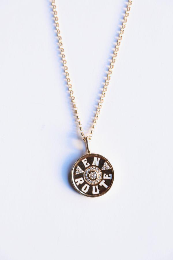 Marlo Laz Mini En Route Coin Necklace