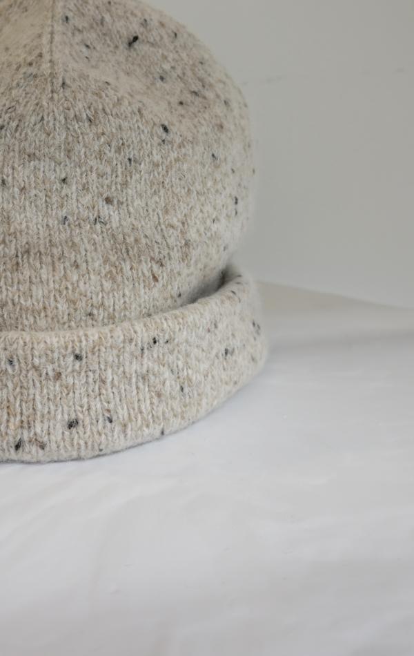 Lauren Manoogian Double Crown Beanie - White Tweed