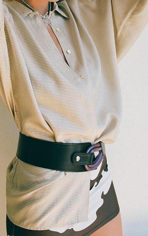Maryam Nassir Zadeh Adela Belt - Black