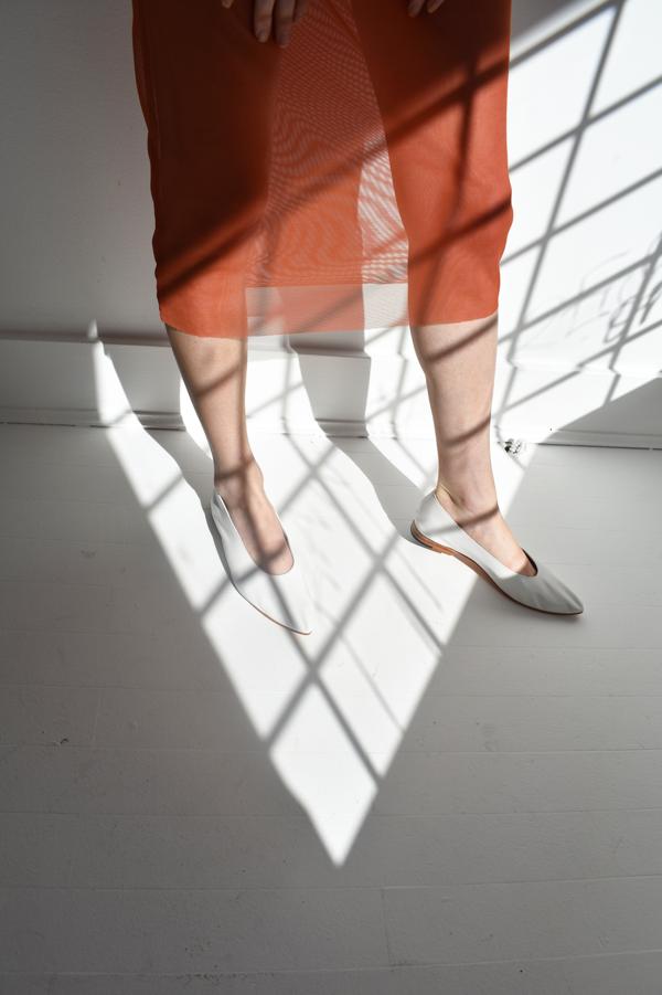 Michons Marigot Mesh Dress - Orange