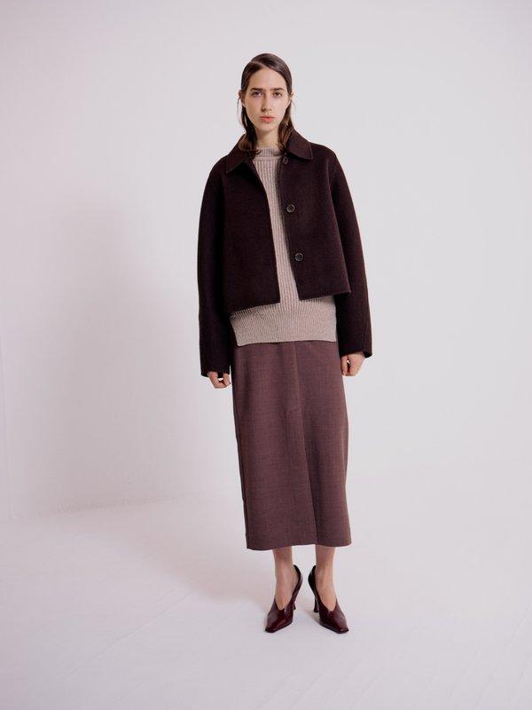 Mijeong Park Chunky Grandpa Sweater - Taupe
