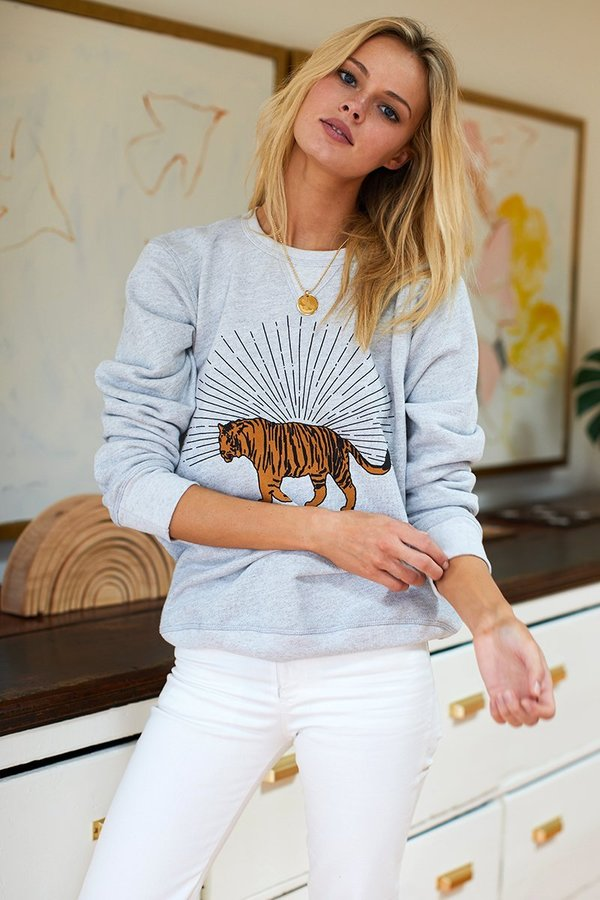 Emerson Fry Tiger Sweatshirt - Grey