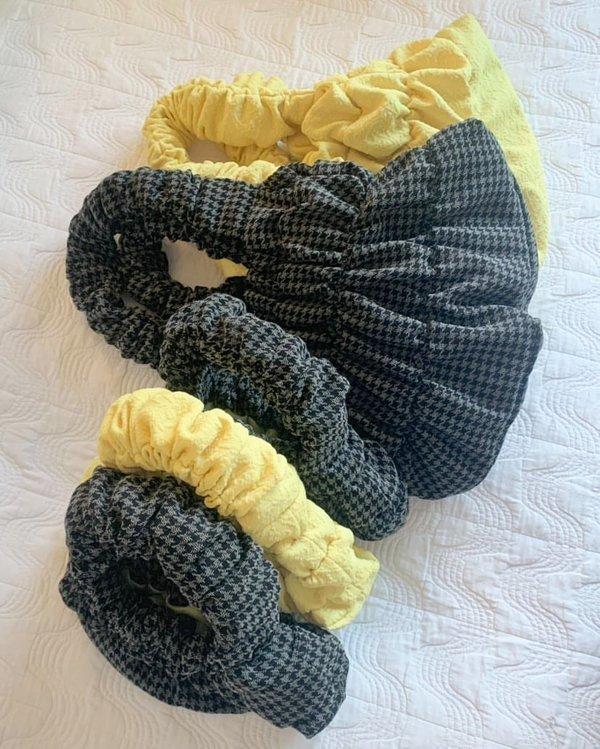 OMW Mini Pouch - Yellow Brocade