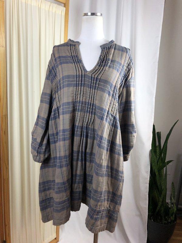 [Pre-loved] CP Shades Plaid Cotton Tunic - Grey Multi