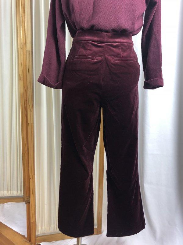 [pre-loved] Frame Velvet Trouser - Red