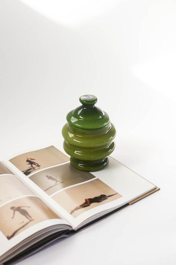 Vintage Beehive Jar - Olive Green