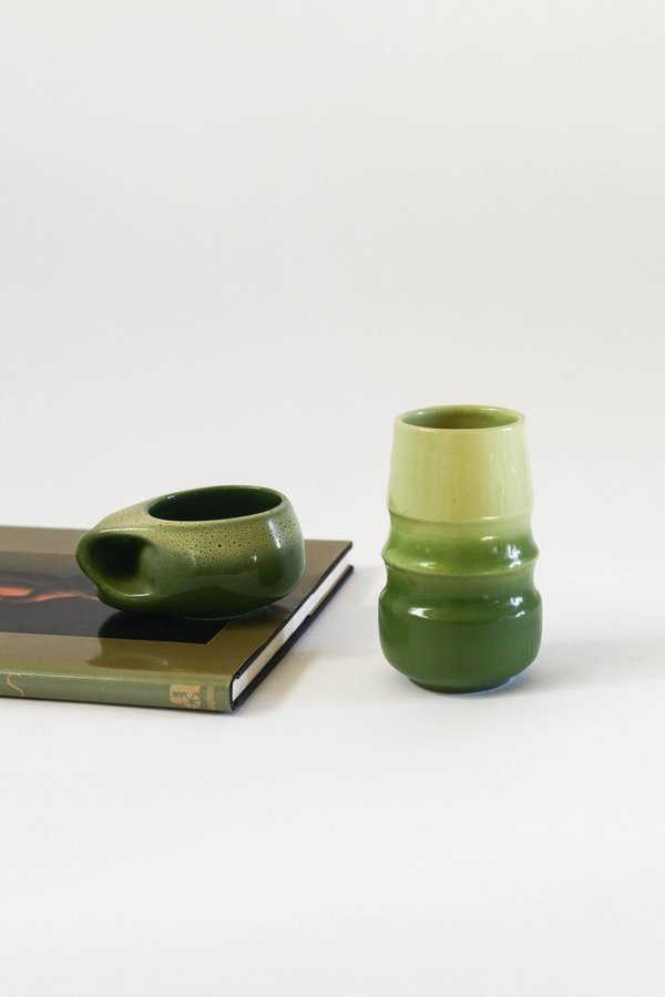 PRE-LOVED Leigh Collective Ombre Pottery Set - green