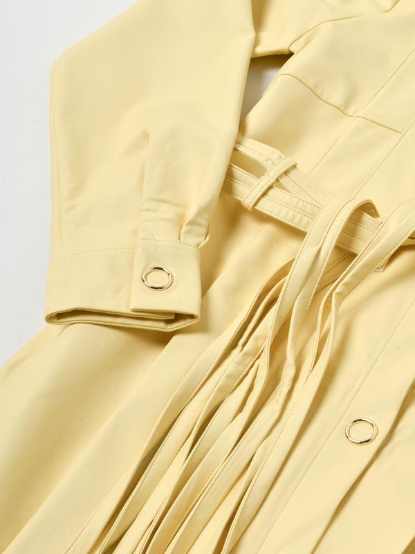 House of Sunny PERENNIAL SHIRT DRESS - BLONDE