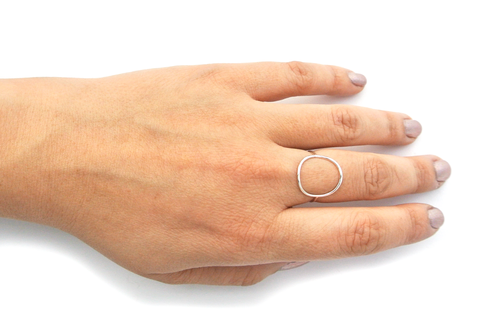 Silversheep Jewelry Open Circle Ring