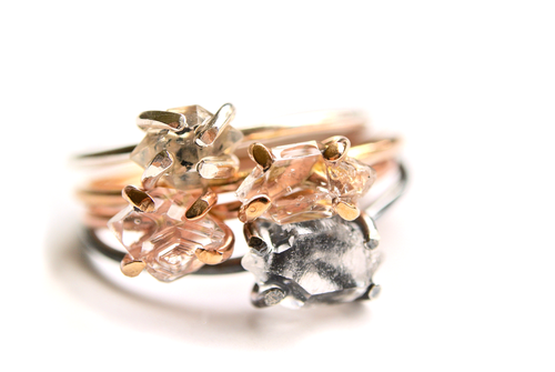 Silversheep Jewelry Herkimer Diamond Ring