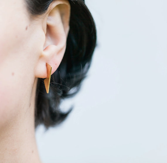 Knuckle Kiss Side Bolt Earrings