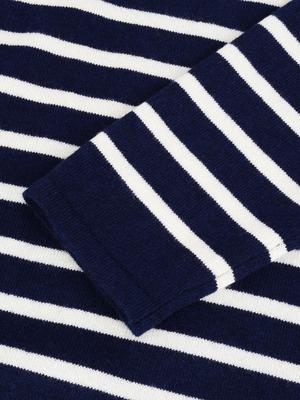 Striped Sweater_navy/ivory