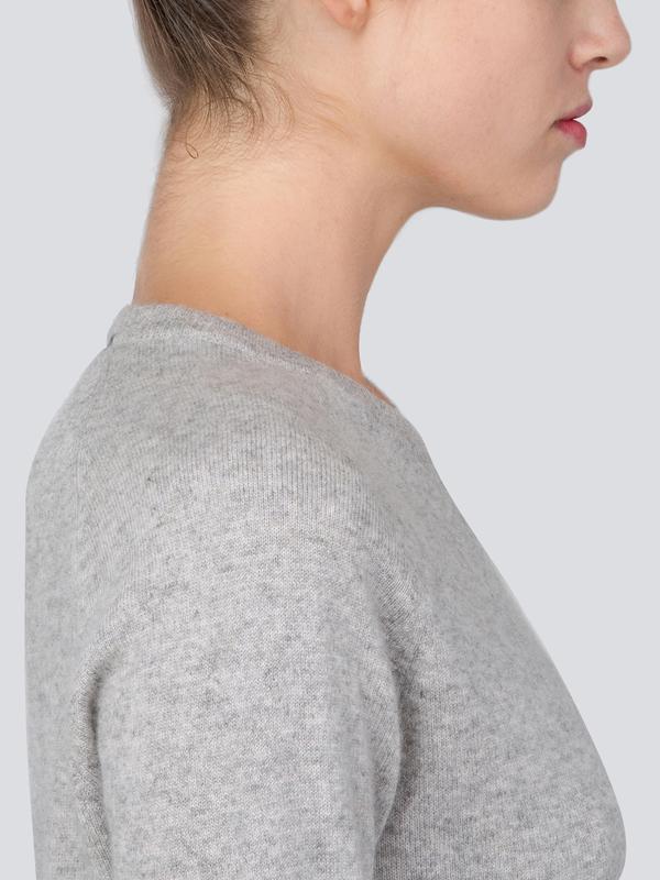 Turtleneck Slimfit Sweater_CB_Light Grey/Baby Blue