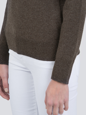 Turtleneck Slimfit Sweater_Cocoa Brown