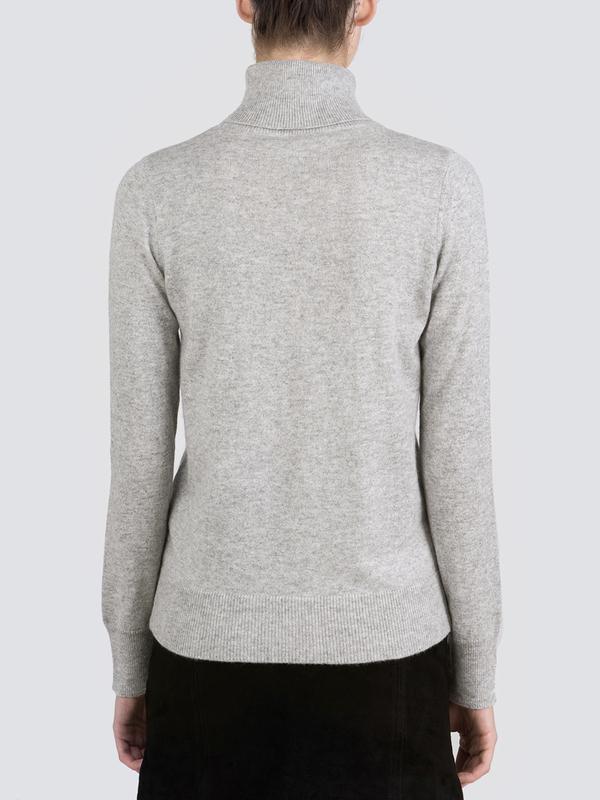 Turtleneck Slimfit Sweater_Light Grey